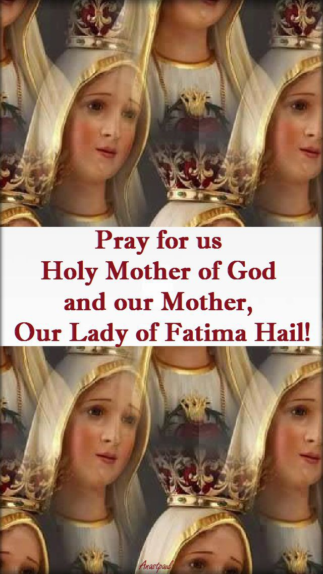 pray-for-us-mother-of-god - 14 may 2017
