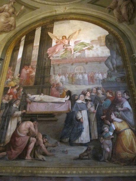 S.m._maddalena_de'_pazzi,_cappella_della_beata_bagnesi,_affreschi_di_giuseppe_servolini_02