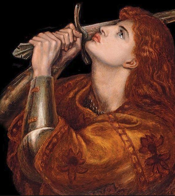 snip - beautiful neo raphaelite st joan of arc
