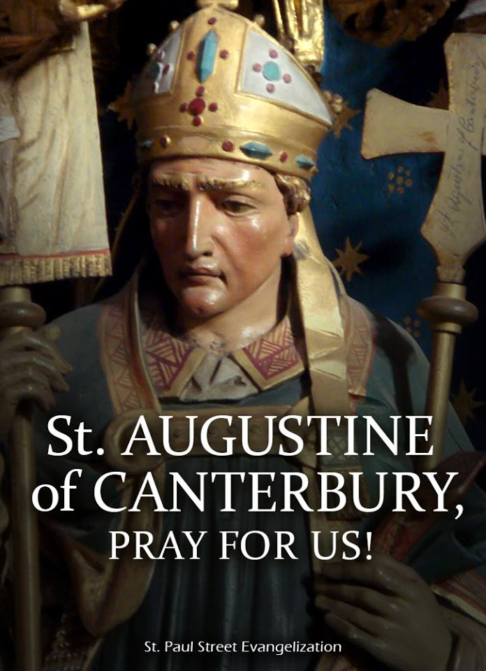 ST AUGUSTINE OF CANTERBURY - MAY 27