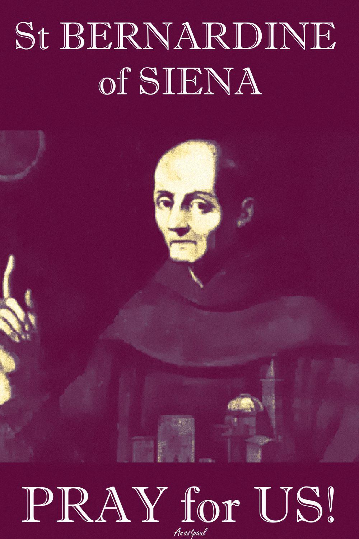 st bernardine of siena-pray for us