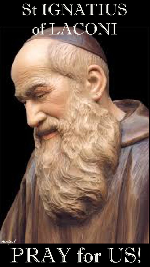 st ignatius of laconi pray for us