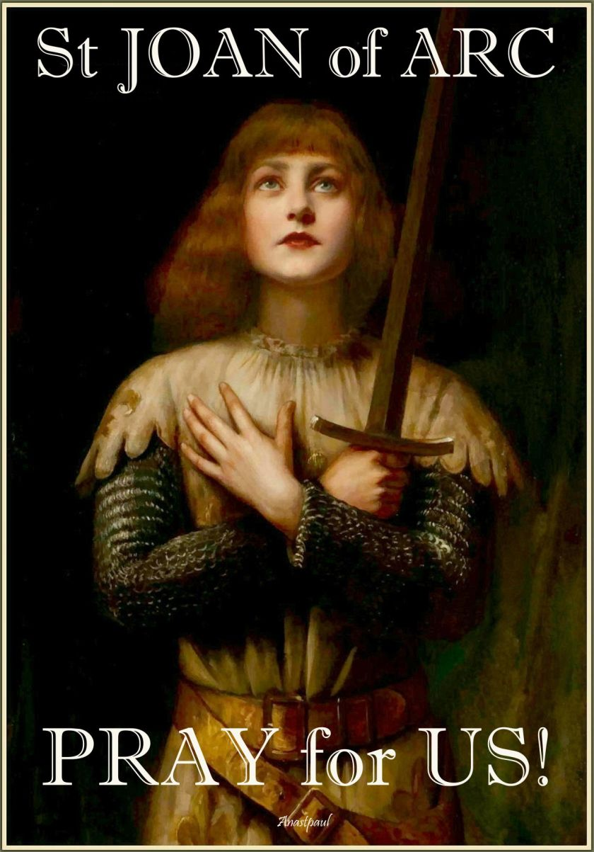 ST JOAN PRAY FOR US