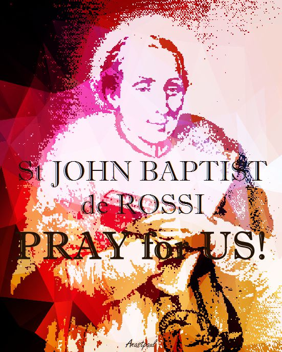 st john baptist de rossi - pray for us