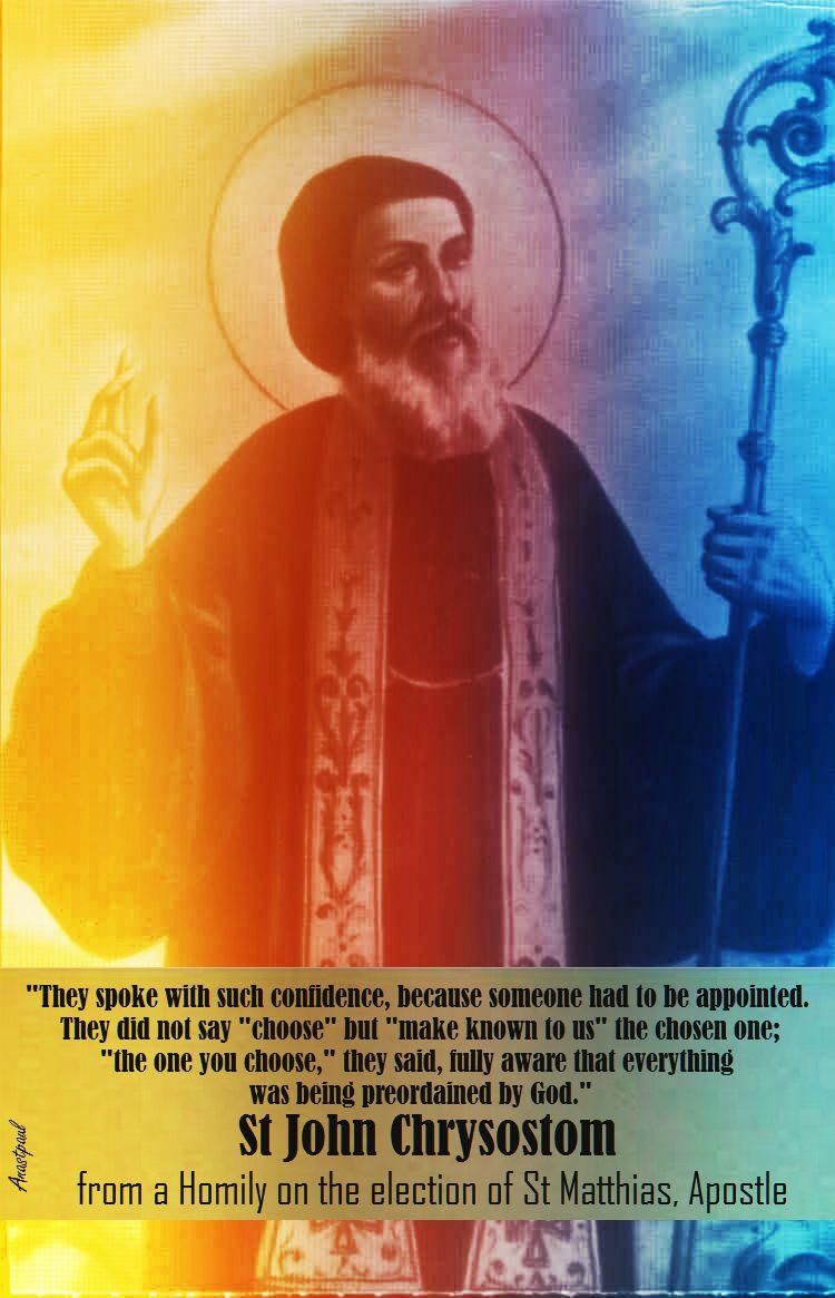 ST JOHN CHRYSOSTUM.- on the election of ST MATTHIAS