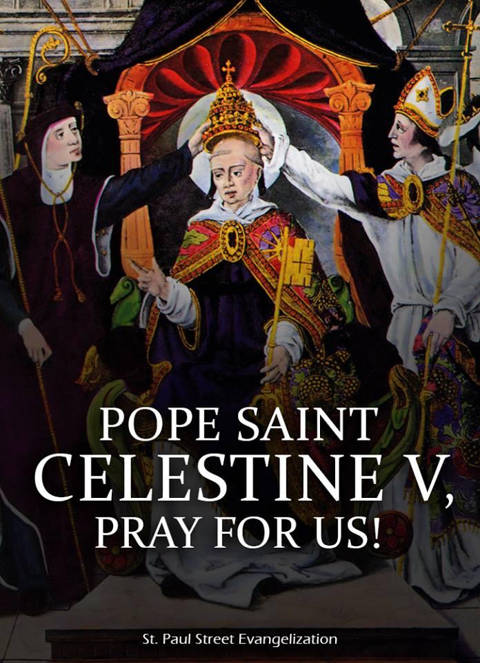 ST POPE CELESTINE V - MAY 19 ST PAULS