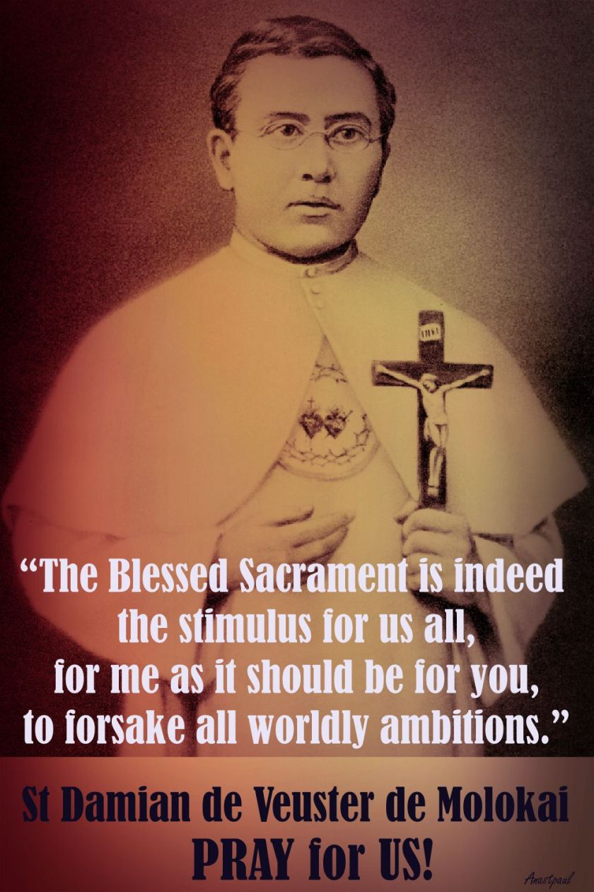 THE BLESSED SACRAMENT - ST DAMIAN DE MOLOKAI