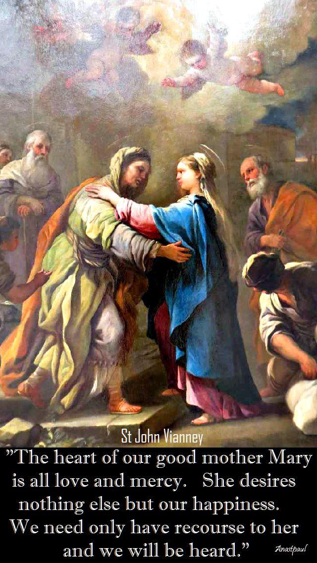 THE HEART OF OUR GOOD MOTHER-ST JOHN VIANNEY