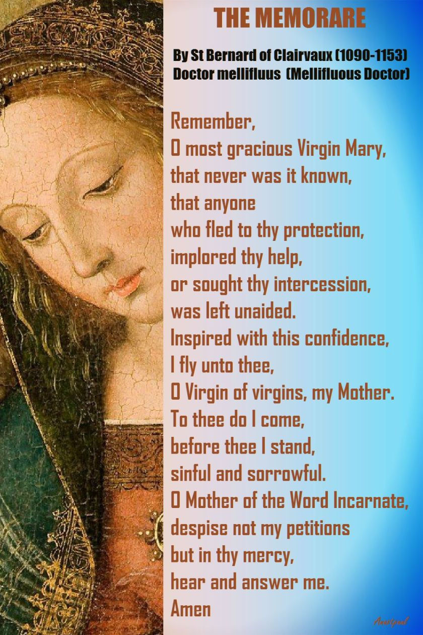 THE MEMORARE - ST BERNARD