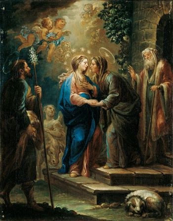 The Visitation, by Jerónimo Ezquerra, 1737