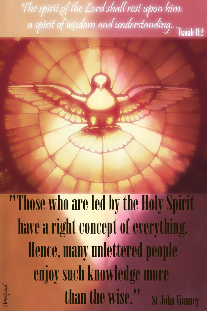 those who are led by the holy spirit - st john vianney