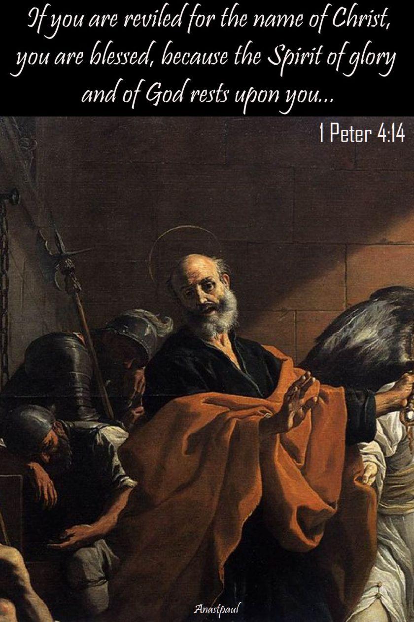 1 peter 4 14