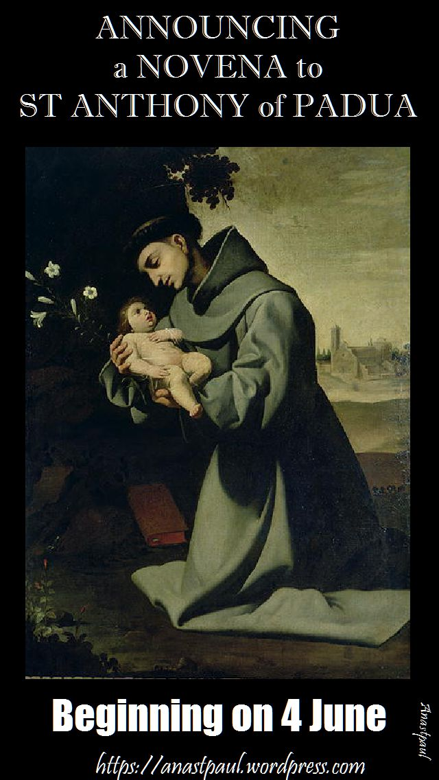 annoucing a novena to st anthony of padua