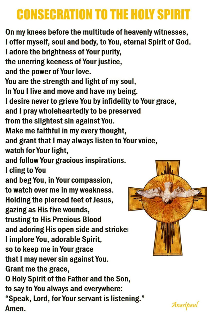 consecration to the holy spirit
