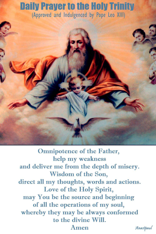 daily prayer to the holy trinity