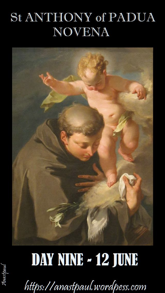 DAY NINE - ST ANTHONY OF PADUA NOVENA