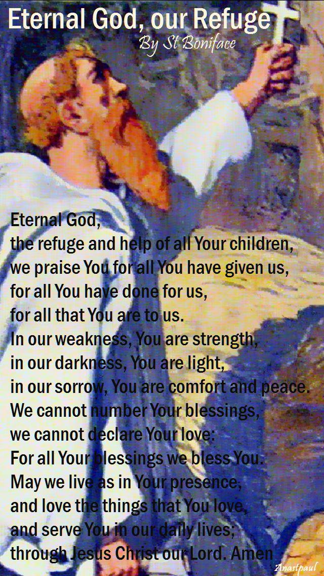 eternal god our refuge-st boniface