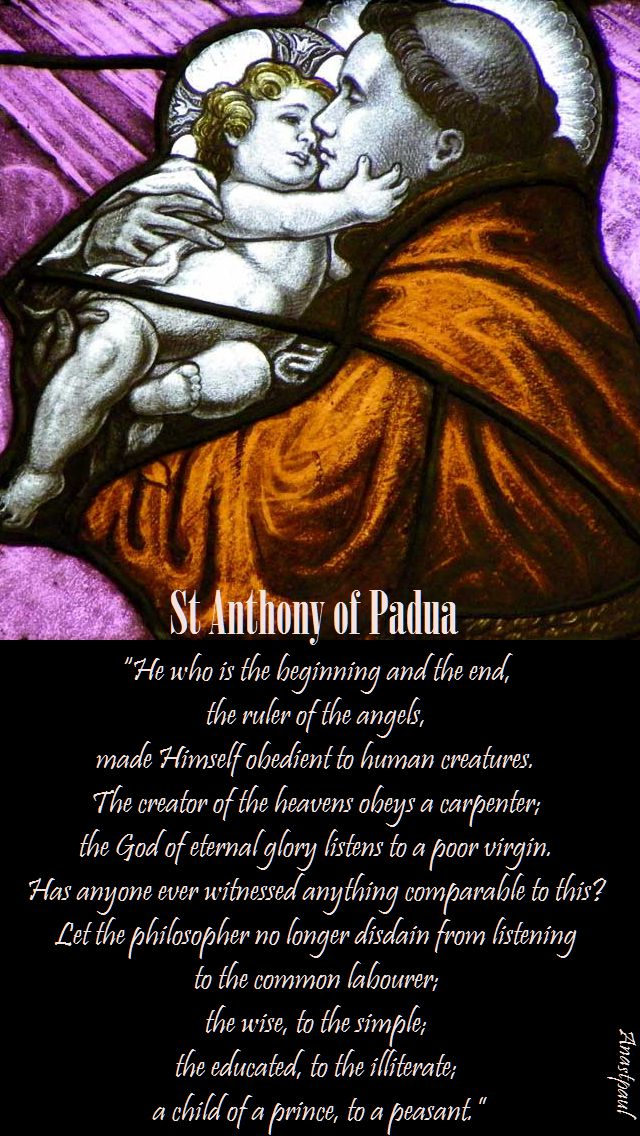 he who is the beginning and the end - st anthony of padua