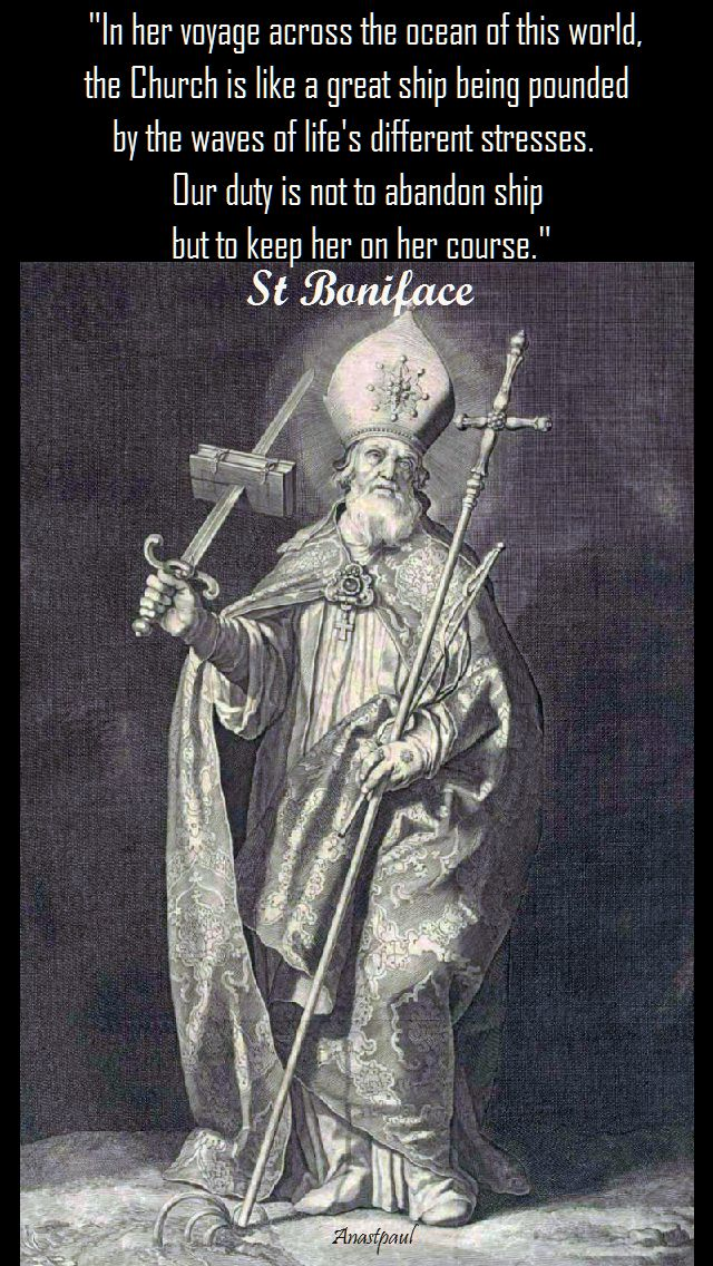 in her voyage across the ocean of this world - st boniface