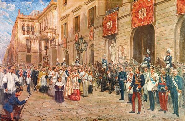 La procesión de Corpus Christi (1944) - Sainz de la Maza.