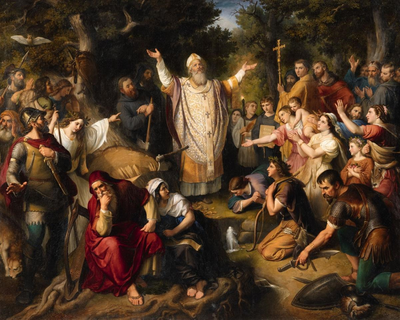 Lempertz-1040-1540-Fine-Art-Johann-Michael-Wittmer-Saint-Boniface-Felling-Do