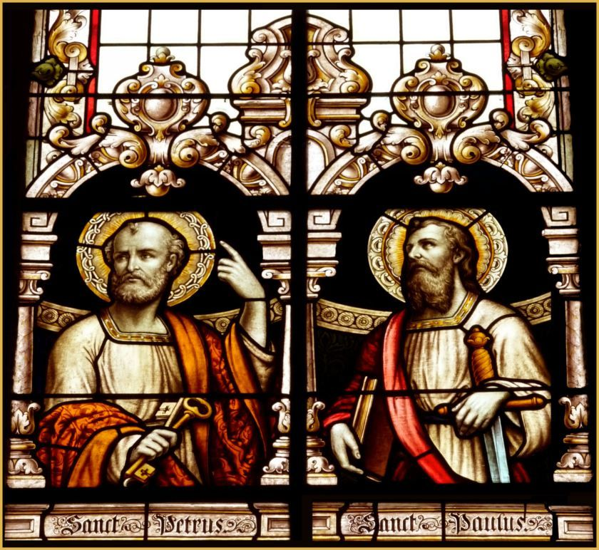 magnificent glass sts peter and paul