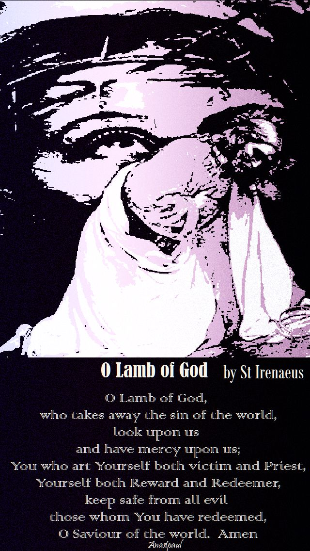 o lamb of god by st irenaeus