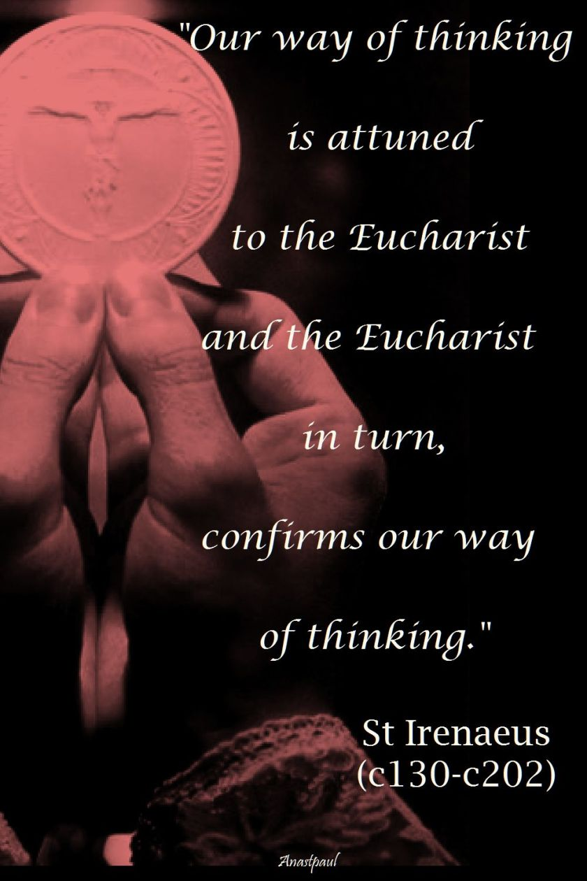 our way of thinking - st irenaeus