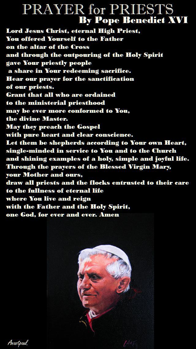 PRAYER FOR PRIESTS-BENEDICT