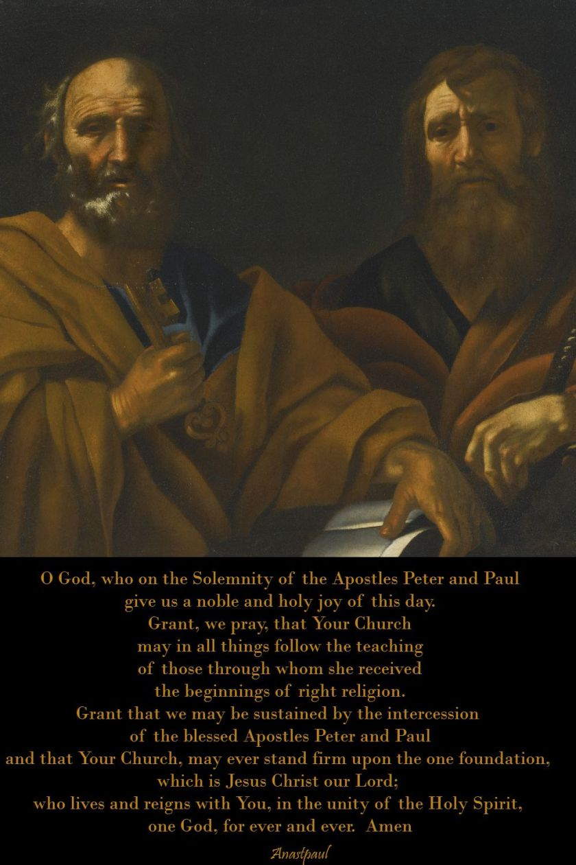 prayer on the solemnity of the apostles peter and paul