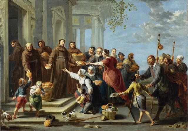 Saint Anthony of Padua distributing Bread by Willem van Herp the Elder circa 1662