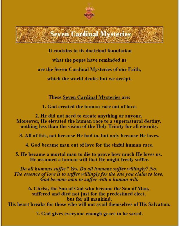 seven cardinal mysteries - sh 2