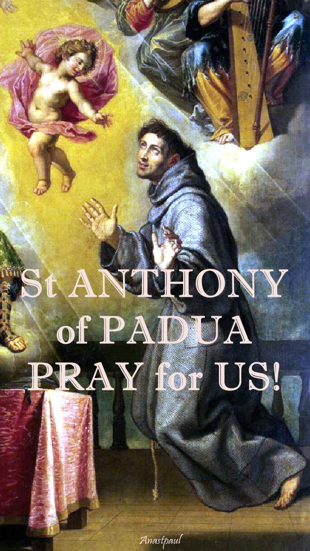 st anthony pray for us