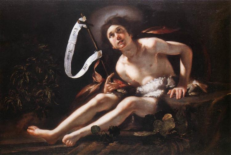 St. John the Baptist - Bernardo Strozzi 1620