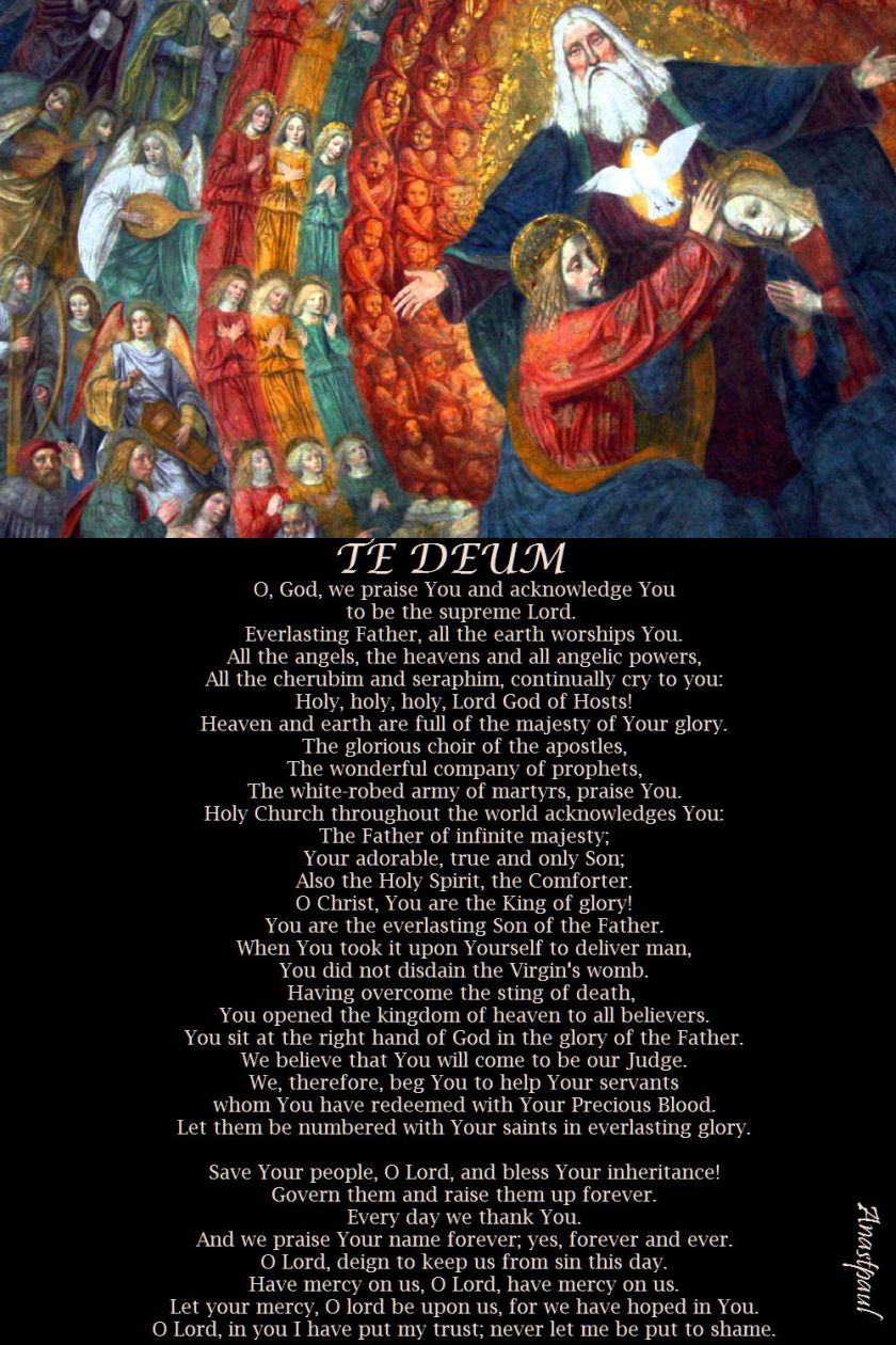 TE DEUM - O GOD WE PRAISE YOU