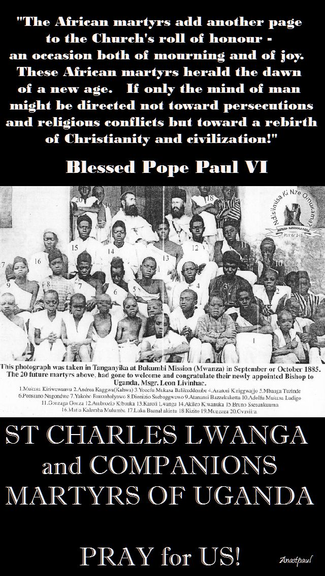 the african martyrs...bl pope paul VI