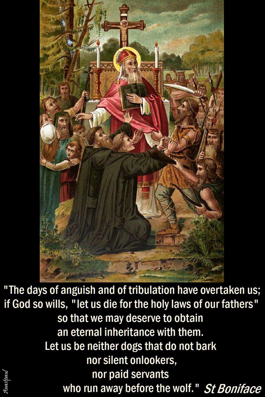the days of anguish and of tribulation-st boniface