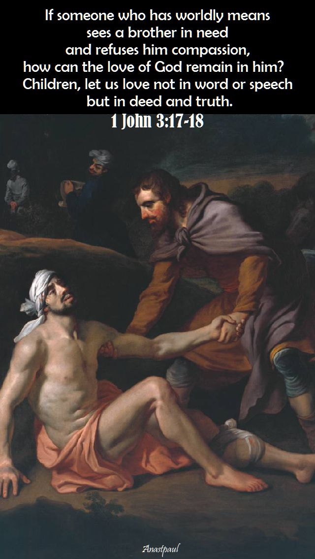 1 John 3-17 and 18