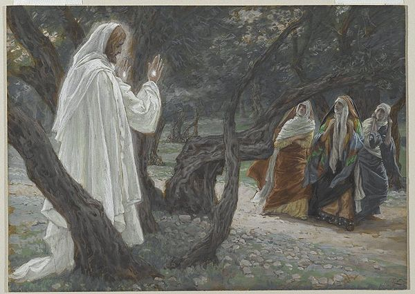 600px-Jesus_Appears_to_the_Holy_Women_at the tomb - james tissot