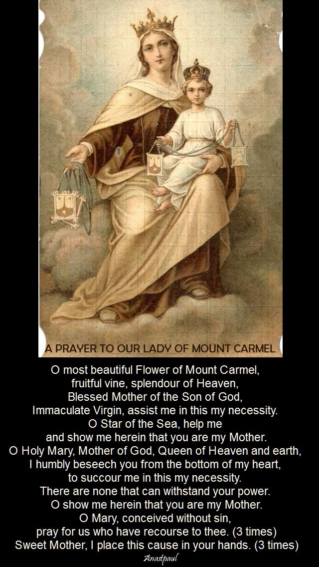 a prayer to our lady of mt carmel