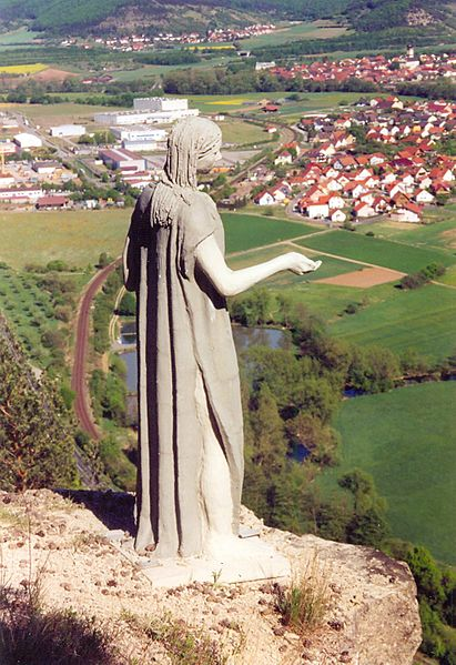 Amalberga statue at Hammelburg (Bavaria, Germany)