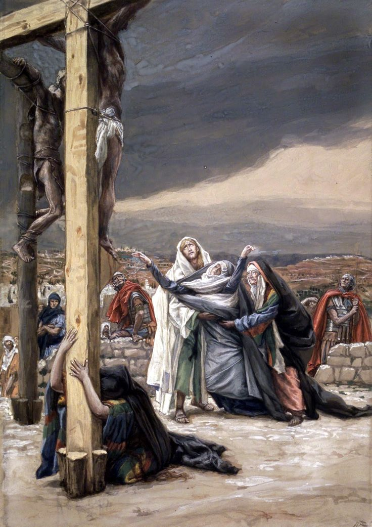 at the foot of the cross - mary sorrows mother of sorrows james tissot