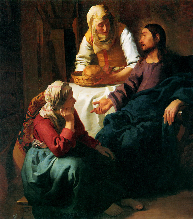 Christ in the House of Martha and Mary, by Jan Vermeer Van Delft, 1654