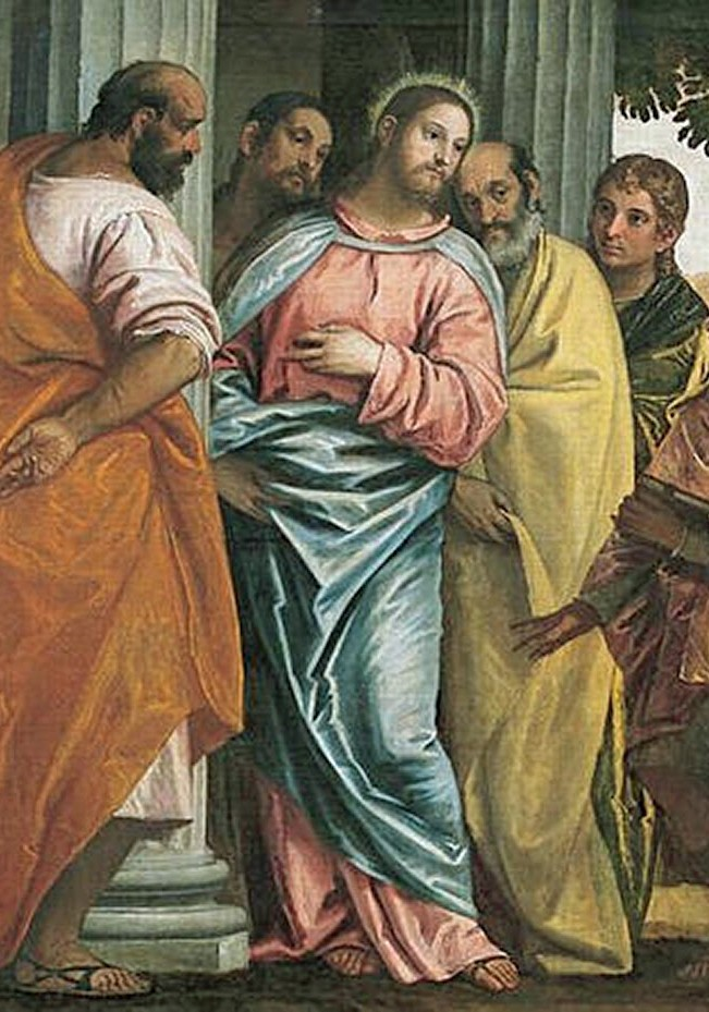 Christ with sons of Zebedee James and John