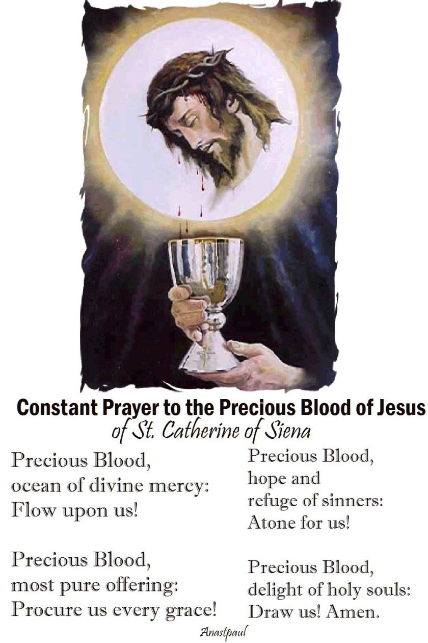 Constant prayer to the precious blood of jesus by st catherine of siena
