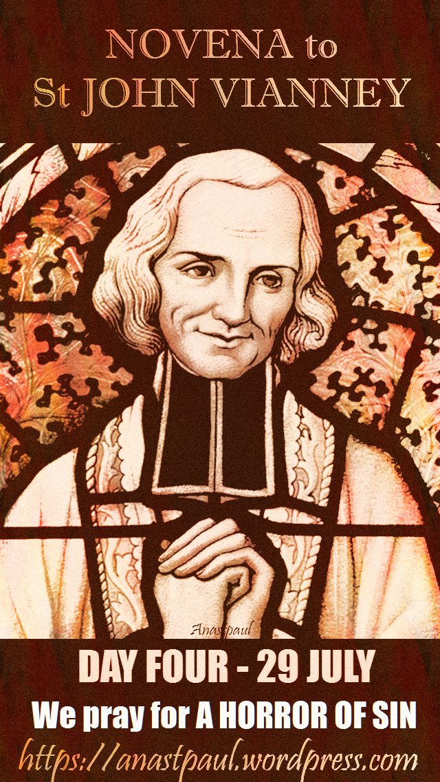 DAY FOUR - NOVENA TO ST JOHN VIANNEY