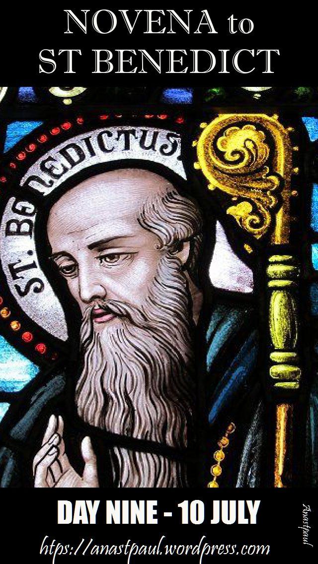 day nine - novena st benedict