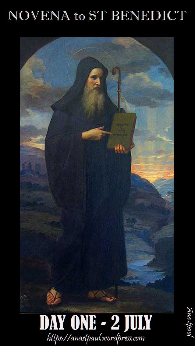 day one novena to st benedict
