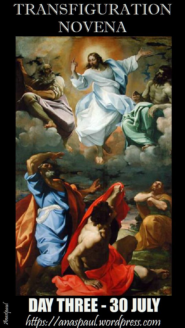 DAY THREE - TRANSFIGURATION NOVENA 30 JULY