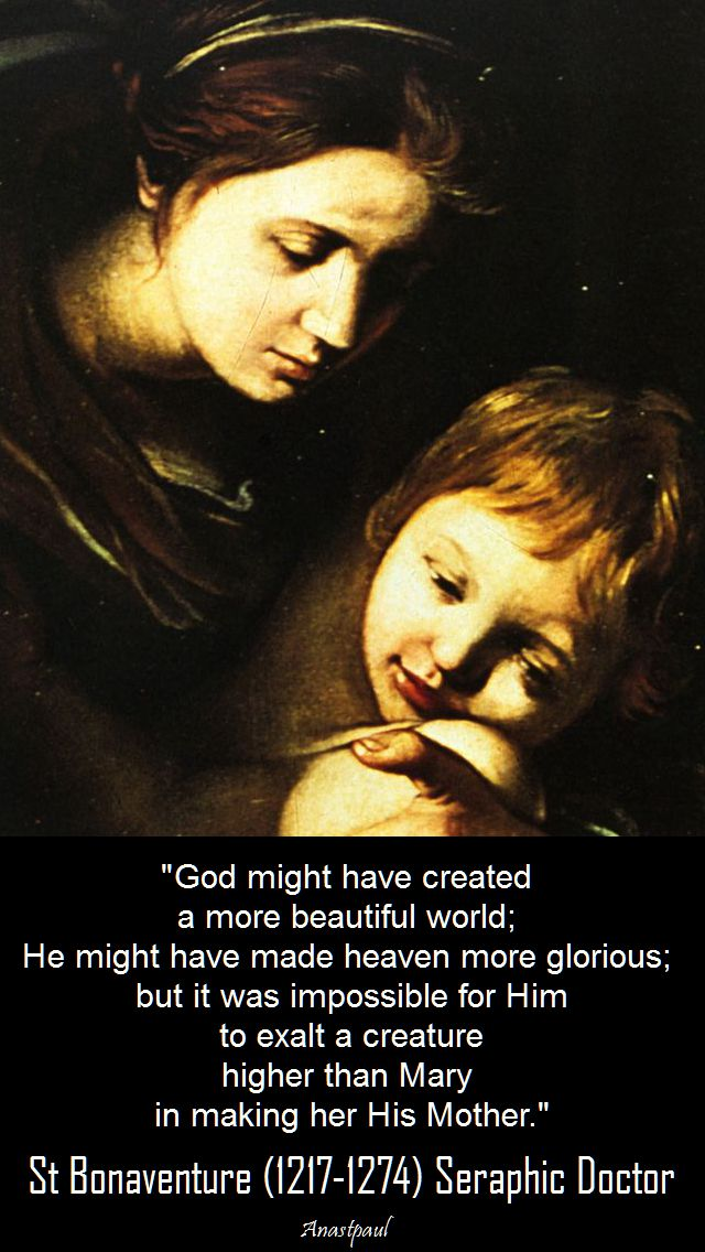 god might have created-st bonaventure